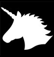 simple monochrome shape silhouette of unicorn vector image vector image