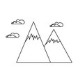 snowy mountains isolated icon vector image