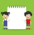 stock paper template with children vector image vector image
