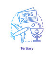 Tertiary blue concept icon business produce