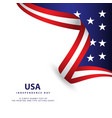 usa independence day template design vector image