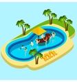 Water Park And Friends vector image vector image