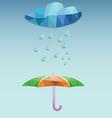 Weather Rainy And Umbrella vector image vector image
