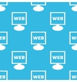 WEB monitor pattern vector image vector image