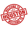 welcome to houston red stamp vector image vector image