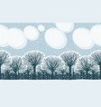 winter snow landscape with snow-covered park trees vector image vector image