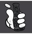 for bars and restaurants Handmade vector image