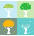 four season trees vector image