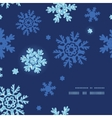 glitter snowflakes dark frame corner pattern vector image