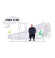 abdomen fat overweight man fatty guy obesity over vector image vector image