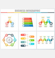 abstract infographics number options template 3 4 vector image