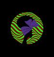 african logo round design portrait woman vector image vector image