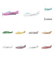 aircraft and commercial vector image vector image