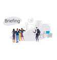 businesspeople group teamwork training conference vector image vector image
