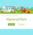 camping park landscape with vector image vector image