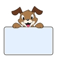 Cartoon Banner Dog vector image vector image