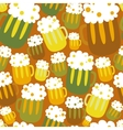 Cartoon seamless pattern with beer vector image vector image