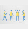 character design with future people isolated on vector image vector image