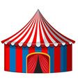 circus tent in red and blue vector image vector image