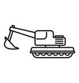 coal excavator icon outline style vector image vector image