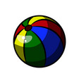 color sketch baby beach ball vector image