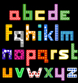 Colorful cubic style font vector image vector image