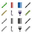 design of brush and hair icon set of brush vector image