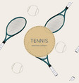 drawing tennis set seamless vector image vector image
