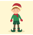 Elf Christmas Boy vector image vector image
