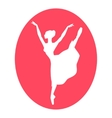 Emblem of dance ballet studio with ballerina vector image vector image