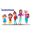 european generation female people person vector image vector image