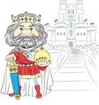 fairytale cartoon king charles first vector image
