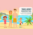 family on summer vacation flat horizontal banner vector image vector image