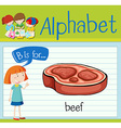 Flashcard alphabet B is for beef vector image vector image