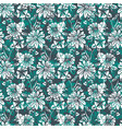 floral seamless pattern with abstract leaves vector image vector image