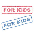 for kids textile stamps vector image vector image