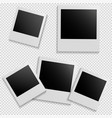 frames for photo on isolated background vector image vector image