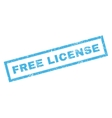 Free License Rubber Stamp vector image vector image