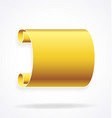 gold golden scroll banner element vector image