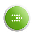 green round button with next sign vector image vector image