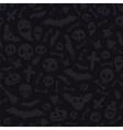 Halloween Symbols Seamless Pattern Dark vector image vector image