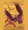 harpies flock attack vector image vector image