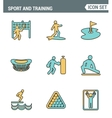 Icons line set premium quality of outdoor sports vector image vector image