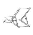 isolated beach chair vector image