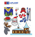 lapland tourist travel and famous tourist culture vector image