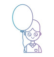 line boy with hairstyle and balloon design vector image vector image