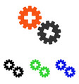 medical gears flat icon vector image