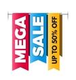 Mega sale banner big sale poster design vector image vector image