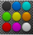 modern colorful web buttons set vector image