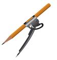 Pencil Compass vector image